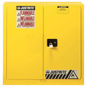 "30 Gallon 2 Door, Manual, Flammable Cabinet, 36""W x 24""D x 35""H, Yellow"