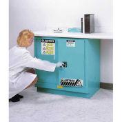 """Justrite 22 Gallon Undercounter Acid Corrosive Cabinet, 35""""W x 22""""D x 35""""H, Blue"""