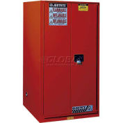 """Paint & Ink Cabinet, 96 Gallon, 2 Door, Self-Close, 34""""W x 34""""D x 65""""H, Red"""