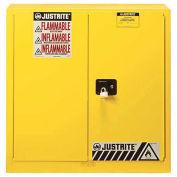 "30 Gallon 1 Sliding Door, Self-Close, Flammable Cabinet, 43""W x 18""D x 44""H, Gray"