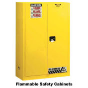 "45 Gallon 2 Door, Self-Close, Flammable Cabinet, 43""W x 18""D x 35""H, White"