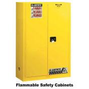 "45 Gallon 2 Door, Self-Close, Flammable Cabinet, 43""W x 18""D x 35""H, Gray"