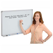 Magnetic Dry Erase White Board - Steel Surface - Aluminum Frame - 36 x 24