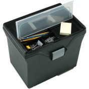 "IRIS 110977 Letter Size File Box, 10"" x 13-3/8"" x 11-5/8"", Black - Pkg Qty 4"