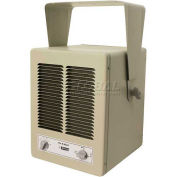 King Unit Heater, 19450 BTU, 240V, 1 Phase, Pearl White