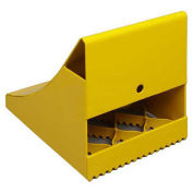 "Ice & Snow Wheel Chock, 10-1/2""L x 8""W x 9-1/4""H, Yellow"