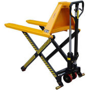 "Wesco® Telescoping Manual High Lift Pallet Truck, 3300 Lb., 20"" Forks"