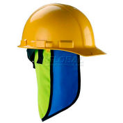 Chill-Its Evap. Hard Hat Neck Shade w/ Built-In Cooling Towel, Lime, 12523