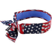 Evaporative Cooling Bandana W/Cooling Towel, Tie, Star & Stripes - Pkg Qty 6