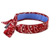 Ergodyne Chill-Its Evaporative Cooling Bandana w/ Built-In Cooling Towel, Red Western
