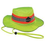 Ergodyne Chill-Its Evaporative Class Headwear Hi-Vis Ranger Hat, Built-In Cooling Towel, Lime, S/M