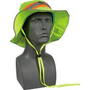 Chill-Its Evap. Class Headwear Hi-Vis Ranger Hat w/Built-In Cooling Towel, Lime, L/XL