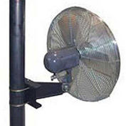 """TPI 30"""" Pole Mount Fan Oscillating, 1/4 HP, 1 PH, Totally Enclosed Motor"""