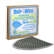 DripWick Disposable Gray Laminated Urinal Mat, 6 Pack
