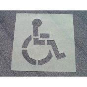 Heavy Duty Stencil Handicapped Parking Symbol, PMS50