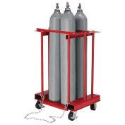Mobile Forkliftable Cylinder Storage Caddy, 4 Cylinders