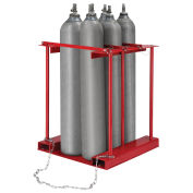 Forkliftable Stationary Cylinder storage Caddy, 6 Cylinders Capacity