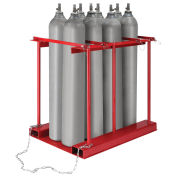 Forkliftable Stationary Cylinder storage Caddy, 8 Cylinders Capacity