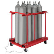 ForkliftableMobile  Cylinder Storage Caddy, 8 Cylinders Capacity