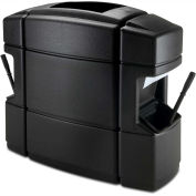 Commercial Zone 40 Gallon Waste 'N Wipe Service Center Double-Sided, Black