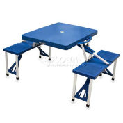 Portable Folding Picnic Table with Seats, Blue