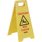 Floor Sign 2 Sided - Caution Wet Floor