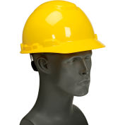 3M™ Hard Hat With UVicator, Yellow, 4-Point Ratchet Suspension, H-702R-UV