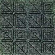 "Waterhog Classic Carpet Tile 2205714000 Medium Grey, 18""L X 18""W X 1/4""H, Geometric, 12-PK"