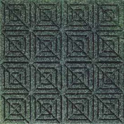 "Waterhog Classic Carpet Tile 22059716000 Evergreen, 18""L X 18""W X 7/16""H, Geometric, 10-PK"