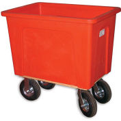 "WESCO Box Trucks - 8"" Pneumatic Casters - 21""Wx32""Dx25""H - Red"
