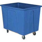 "WESCO Plastic Box Truck 8 Bushel Blue, 5"" Casters"
