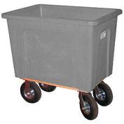 "WESCO Plastic Box Truck, 20 Bushel Gray, 8"" Casters"