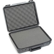 """Black Plastic Protective Storage Cases with Pinch Tear Foam 13-1/2""""x10""""x3-3/4"""""""