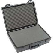 """Black Plastic Protective Storage Cases with Pinch Tear Foam 17""""x12""""x5-1/2"""""""