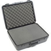 """Black Plastic Protective Storage Cases with Pinch Tear Foam 19""""x14""""x6"""""""