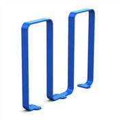 Linguini Steel Bike Rack, 5 Bike Capacity, Blue