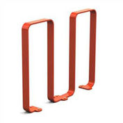 Linguini Steel Bike Rack, 5 Bike Capacity, Red