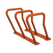 Surf Steel Bike Rack, 6 Bike Capacity, Red