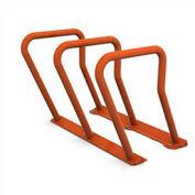Surf Steel Bike Rack, 6 Bike Capacity, Red