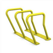 Surf Steel Bike Rack, 6 Bike Capacity, Yellow