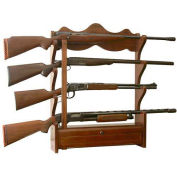 American Furniture Classics Gun Wall Rack, 4 Long Guns, Wood