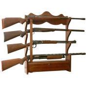American Furniture Classics Gun Wall Rack, 4 Long Guns, Wood