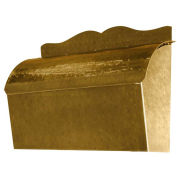 Roll Top Wall Mount Mailbox in Hammered Antique Brass