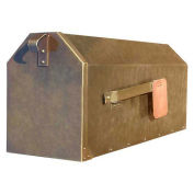 Rural Wall Mount Mailbox in Hammered Antique Copper