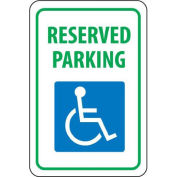 "NMC Traffic Sign, Reserved Parking, 18"" X 12"", White/Blue/Green, TM87G"
