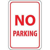 "NMC Traffic Sign, No Parking, 18"" X 12"", White/Red, TM1G"