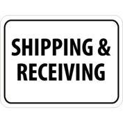 "NMC Traffic Sign, Shipping & Receiving, 18"" X 24"", White/Black, TM228J"