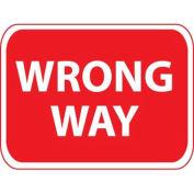 "NMC Traffic Sign, Wrong Way, 18"" X 24"", White/Red, TM133J"