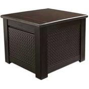 "Patio Chic Storage Cube Deck Box, 28.5""L x 28.5""W x 23.5""H, Dark Teak"