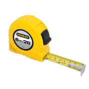 """Stanley Tape Rule 1"""" x 8M/26', Yellow"""